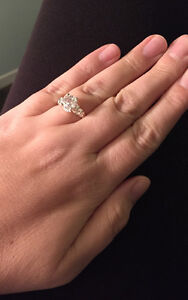 Brand New 925 Silver w/ CZ Bridal Style Ring