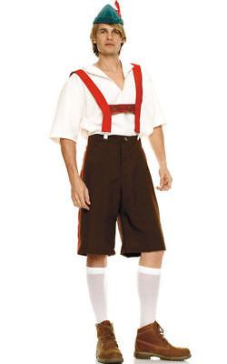 Alpine Lederhosen Costume, Leg Avenue 83240, Adult Men's 4 Piece, Size - Men's Alpine Kostüm