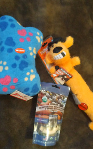 2 New Squeaky Toys + 1 Bag of Healthy Treats - all 3 for $10