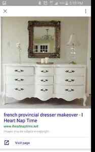 Looking for this type of dresser. French provincial