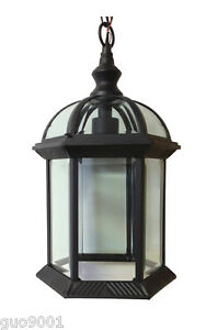 Aluminum Outdoor Exterior Lantern Wall Lighting Fixture Black  Sconce Hanging 25