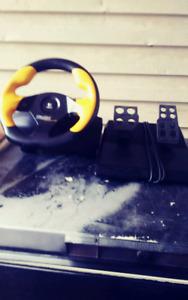 Logitech wingman steering wheel and gas,brake peddle