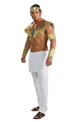Pharaoh Men's Adult Egyptian God Halloween Costume White Pants/ Gold, up to - Egyptian Costumes Halloween