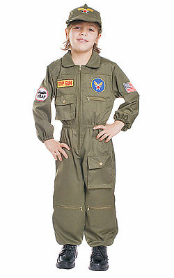 Air Force Fighter Pilot Top Gun Toddler Child Costume (Top Gun Costume Kids)