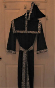 3 Piece Wizard Robe With Hooded Cloak & Belt By Seasons Visions