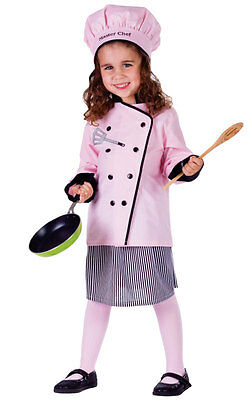 Masterchef Kostüm (BUY GIRLS KIDS DELUXE GIRL MASTER CHEF COOKS DRESS COSTUME OUTFIT & HAT AGE 4-14)