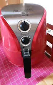 AIR FRYER FROM QVC NEEDS NEW BASKET RED IN GREAT WORKING ORDER