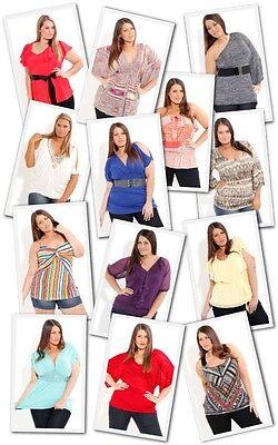 New Lot 10 Pcs Women Plus Size Dresses tops Rave Swimwear Mixed Apparel XL 2X 3X