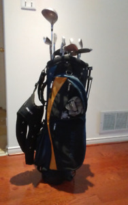 Excellence golf set with cart