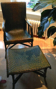 Authentic Grange chair and footstool, perfect condition