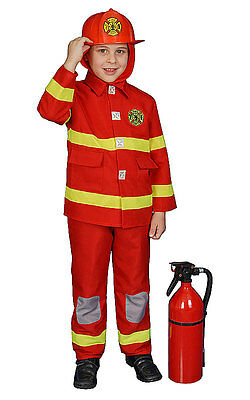 Dress Up America Boy Fire Fighter Toddler Child Costume