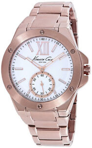 Unisex Rose Gold-Tone Kenneth Cole Stainless Steel Watch
