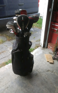 Lefty Golf clubs and bag
