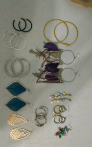 EARRINGS -- $10 for 11 pairs or $2 each