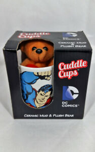 Cuddle Cups DC Valentines Present Superman Plush n Ceramic Mug