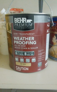 Behr Semi-Transparent Deck, Fence & Wood Stain (Chocolate Color)