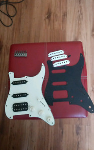 Loaded strat pickguard