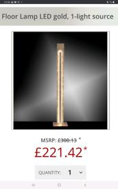 Brand new boxed paul neuhaus gold led floor lamp retailed £300