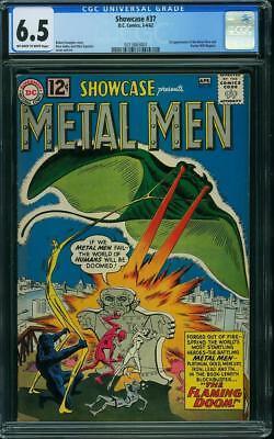 Showcase #37 CGC 6.5 DC 1962 1st Metal Men! Key Silver Age Book! G7 317 cm