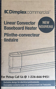 "NEW Dimplex 25"" Electric Baseboard Heater, White, 500W"