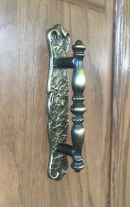 """3"""" Antique English Brass Cabinet Pulls with backplate"""