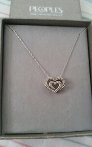 14K white gold diamond necklace from Peoples