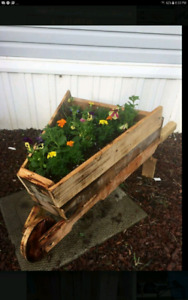 Need a Mother's Day gift?  Rustic Wheelbarrow Planter