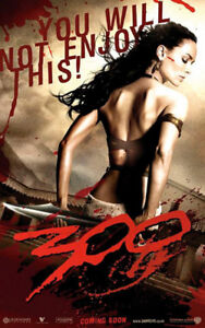 300 Movie Poster on Plak Mounting