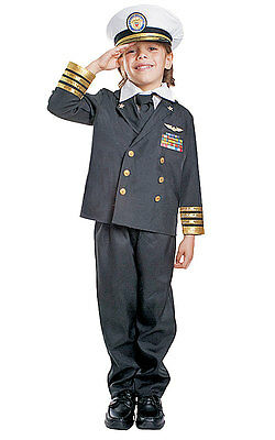 Navy Costumes For Boys (BOYS KIDS CHILDRENS DELUXE NAVY ADMIRAL SAILOR FANCY DRESS COSTUME UNIFORM &)