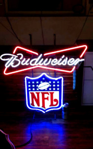"NFL Budweiser light. 36 ""x 36"""