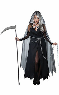 Lady Reaper Adult Women Plus Size Costume - Plus Sized Women Halloween Costumes