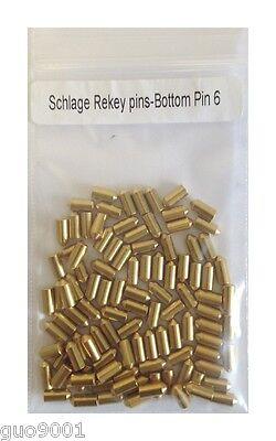 100 Pieces Pc Schlage Rekey Bottom Pins 6 Locksmith Rekeying Pin Key Kits