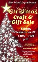Legion Annual Craft Sale