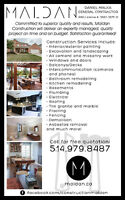RENOVATIONS HANDYMAN GENERAL CONTRACTOR WITH RBQ LICENSE!
