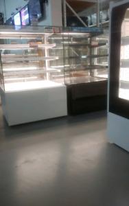 Pastry display cooler Meat case Open merchandiser Bunker freezer