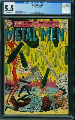 Metal Men #1 CGC 5.5 DC 1963 Key Silver Age! After Showcase #37! G7 316 cm