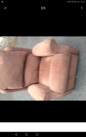 Armchair set includes 1 x manual recliner delivery available