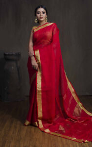 Saree: Red and Gold Saree