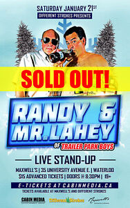 Mr. Lahey and Randy live at maxwell's tonight 2 tickets availabl