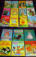 Little Golden Books - Set of 18 - 1970's - excellent cond