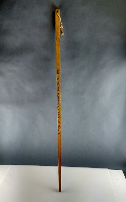 American Bottlers Temprite Products Convention 1938 NYC YardStick ABCB Souvenir