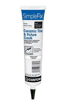 SimpleFix CTFC3815 Siliconized Acrylic Tile Caulk, Bright White Smooth, 5.5 Oz. Tile Acrylic Caulk