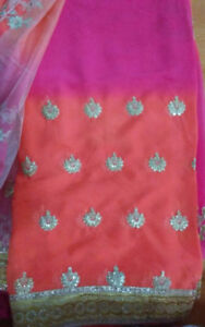 INDIAN WEDDING/PARTY SARI. BRAND NEW. OTHER DESIGNS ON SALE.