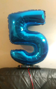 Number 5 balloon