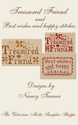 Free Counted Cross Stitch Charts (Treasured Friend ,counted  cross stitch chart, new, plus bonus free)