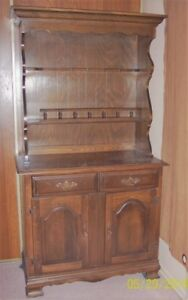 A Two Piece Solid Wood Antique Buffet for Sale $150