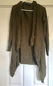 New Brown North Face Hideaway Wool Sweater Wrap - Size XL