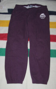 ROOTS 73 ATHLETIC SWEATPANTS MAROON SIZE WOMEN'S LARGE