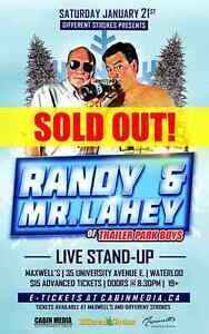 TONIGHT  Randy and Mr Lahey  show
