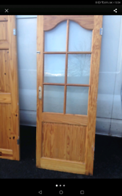 4 pine interior doors £20 each delivery available